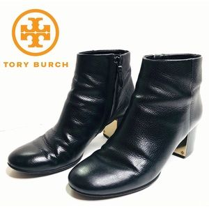 [Tory Burch] Black Leather 'Cleveland' Booties 7.5